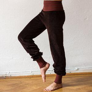 Damen Wohlfühlhose und Yogahose in braun/rost-braun - Cmig