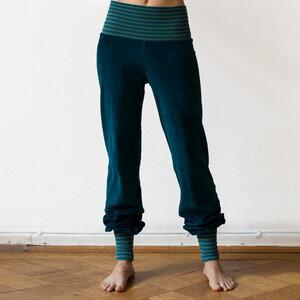 Yoga und Wohlfühlhose für Damen petrol/grün-petrol - Cmig