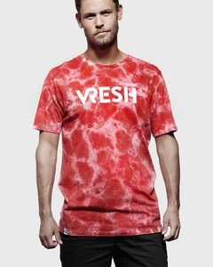 T-Shirt Team tie-dye red - Vresh