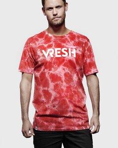 T-Shirt Team tie-dye red - Vresh