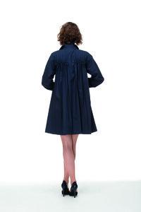 dunkelblauer Mantel aus Biobaumwolle - Skrabak