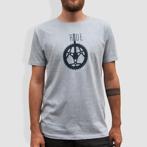"Herren T-Shirt, ""Ride"", Heather Ice Blue - little kiwi"