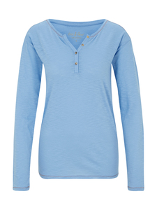 Henley Langarmshirt - Oxford Blue - Naturaline