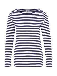 Bateau Shirt - Navy Striped - Naturaline