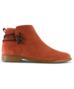 Rosewood / burned orange Wildleder / Ledersohle  - ekn footwear