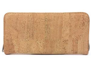 Geldbeutel / Portemonnaie für Damen aus Kork / Korkstoff - beige - Simaru