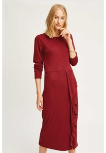 Alona Dress Burgundy - People Tree