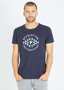 Basic T-Shirt #RECO EST navy blau - recolution
