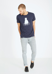 Basic T-Shirt  #POLAR BEAR navy blau - recolution