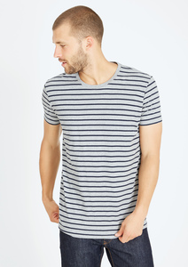 Basic T-Shirt  #STRIPES grau navy blau - recolution