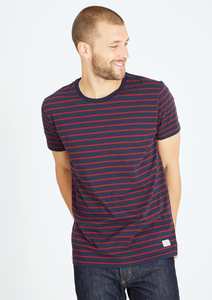 Basic T-Shirt  #STRIPES rot navy blau - recolution