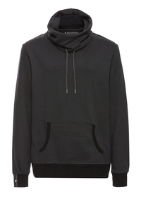 Sweatshirt Tube Collar #CHECKED grau schwarz - recolution