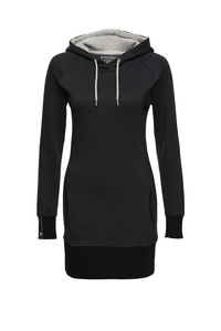 Kleid Hoodiedress #CHECKED grau schwarz - recolution