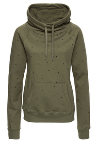 Sweatshirt Turtleneck #STARS olive grün - recolution