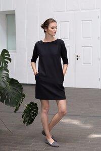 Schwarzes Kleid mit Rückenverschluss - Mila.Vert