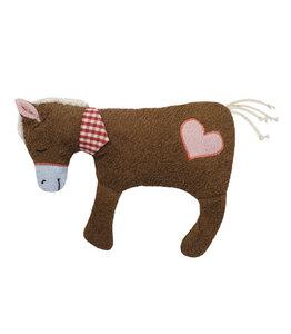 Efie XL Pferd braun mit Herz, Spieltier und Kuschelkissen - Efie