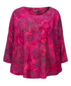 Blusen-Shirt handgefärbt aus Viskose von DIVA - DIVA
