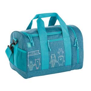 Lässig Sporttasche für die Schule oder Freitzeit About Friends Mélange Blue aus recycelten PET-Flaschen - Lässig