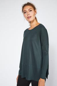 LANIUS- bequemes Shirt in A-Form aus Modal - Lanius