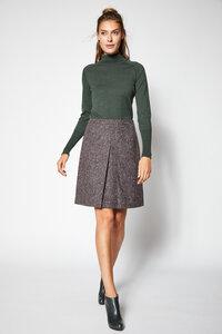 LANIUS-eleganter Tweedskirt mit Kellerfalte - Lanius