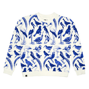 Ystad Sweater Blue Birds - DEDICATED