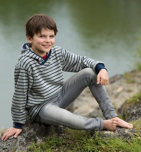 Engel Kinder-Kapuzenpulli 100% Wollfrottee - Engel Naturtextilien