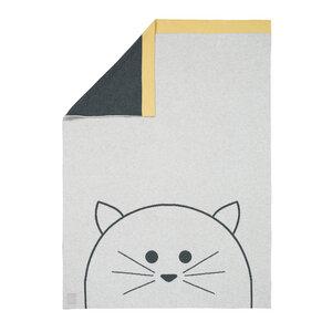 Lässig Babydecke Little Chums Cat 100 % Bio-Baumwolle 70 x100 cm   - Lässig
