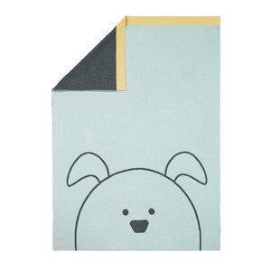 Lässig Babydecke Little Chums Dog 100 % Bio-Baumwolle 70 x100 cm   - Lässig