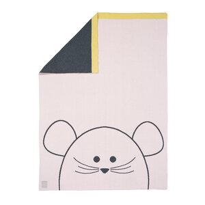 Lässig Babydecke Little Chums Mouse100 % Bio-Baumwolle 70 x100 cm   - Lässig