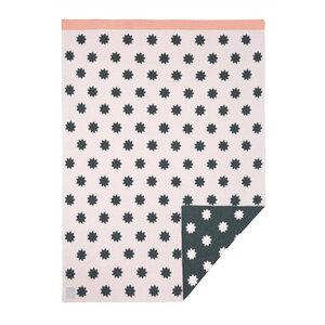 Lässig Babydecke Little Chums Stars Light Pink 100 % Bio-Baumwolle 70 x100 cm   - Lässig