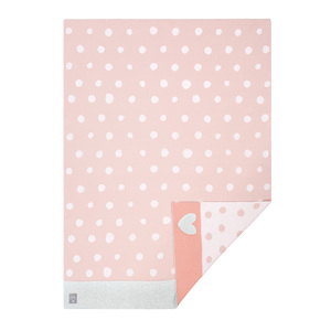 Lässig Babydecke  Lela Light Pink 100 % Bio-Baumwolle 70 x100 cm  Neu  - Lässig
