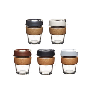 Coffee to go Becher aus Glas mit Grifffläche aus Kork - Limited Edition - Large 340ml - KeepCup