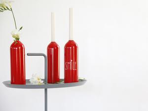 Kerzenhalter/Vase FIRE - rot - werkvoll by Lena Peter