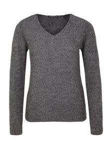 V-Neck Sweater - 100% Baby Alpaka - Grey - Les Racines Du Ciel