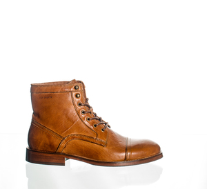 Schnürstiefel - Oskar - Cognac - Ten Points
