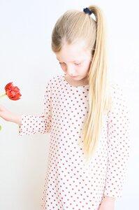 Kinder Nachthemd Herzen rot weiß - betus