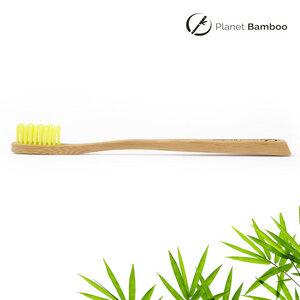 Bambus Kinder Zahnbürste (Gelb   Medium) - Planet Bamboo