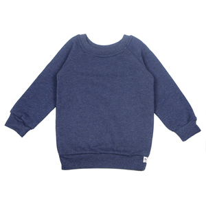 Sweat-Pullover in blau meliert - Carlique