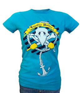 Girlie 'Paul Piratenpapagei', T-Shirt aus Biobaumwolle - Coaster Roller