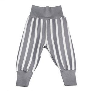 Jersey-Hose gestreift in grau-weiß - Carlique