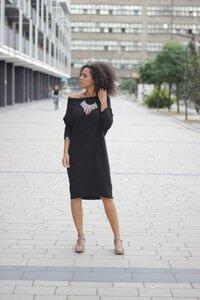 Kleid Minimal Organic Black - KOKOworld
