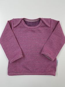 Babyshirt Knit-Knit Ministripes rosa-pink - Omilich