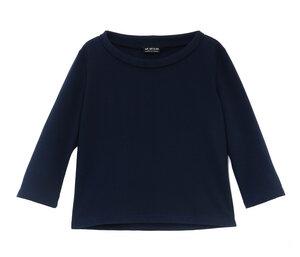 Pullover im 60er Stil Bio Baumwolle dunkelblau - bill, bill & bill