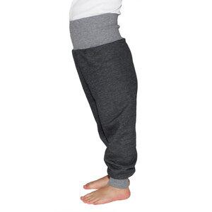 Sweat-Hose mit Bündchen in schwarz meliert - Carlique