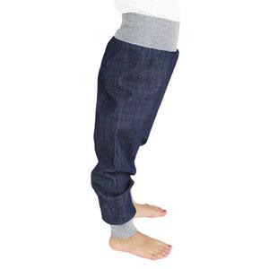 Jeans-Hose mit Bündchen in dunkelblau - Carlique