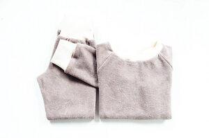 Kinder Frottee Schlafanzug Bio Baumwolle zimt - betus