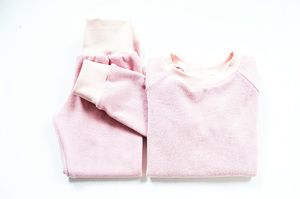 Kinder Frottee Schlafanzug Bio Baumwolle zephyr rosa - betus
