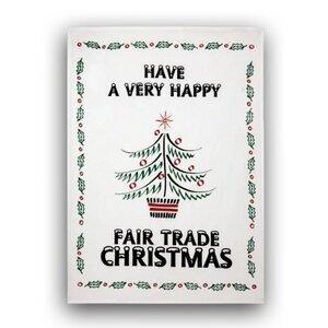 Geschirrtuch 'Happy Fair Trade Christmas' - Bishopston