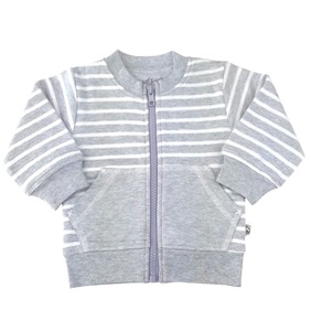 Baby Sweatjacke grau Bio Baumwolle EBi & EBi - EBi & EBi