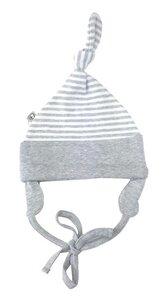 Baby Mütze grau geringelt Bio Baumwolle EBi & EBi - EBi & EBi